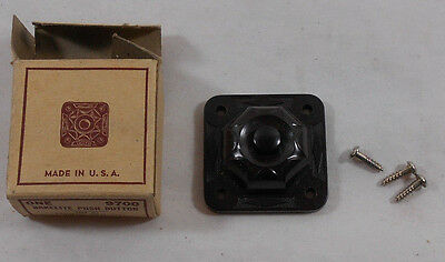 Vintage Leviton Bakelite Push Button Door Bell 9700 Brown