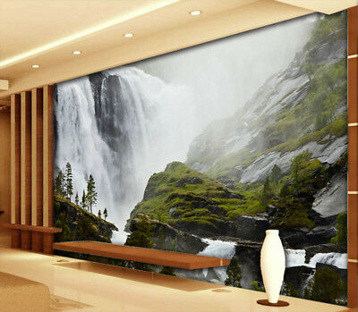 Clear Waterfall 3D Full Wall Mural Photo Wallpaper Printing Home Kids Decoration