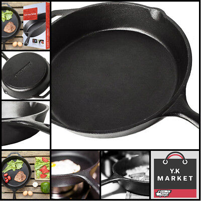 """Made In Usa Skillet Pre-Seasoned Cast Iron Lodge Pan 10.25"""" Vintage Utopia Kitch"""