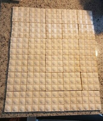 DECORATIVE CERAMIC TILE Lot Floral White & Blue Made In Germany 3 ...