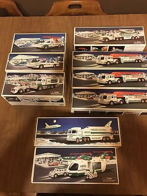"Hess Truck Lot 9 Trucks ""Gently Used Great Condition"