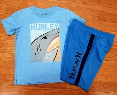 Hurley Boys Size 7 Short Sleeve T Shirt and Hurley Shorts NWT