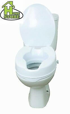 """Drive DeVilbiss Healthcare 6"""" Raised Toilet Seat with Lid"""