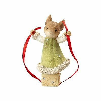 Enesco Heart of Christmas Mouse Wrapping Gift (4057654)