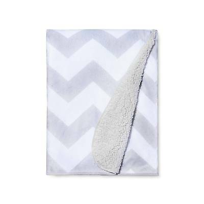 Baby Blanket - Super Soft Baby throw newborn  -  White & Grey NEW