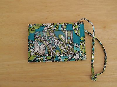 Vera Bradley Luggage Tag/ID Case in Peacock, Excellent Condition