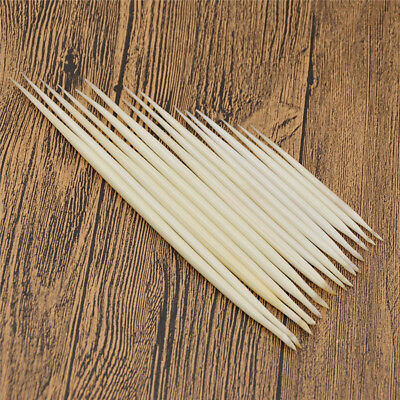 5x Porcupine Quills White DIY Jewelry Hair Stick Fishing Float Handwork Supplies