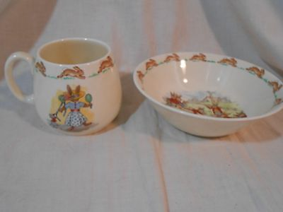 Bunnykins Cup & Bowl Royal Doulton