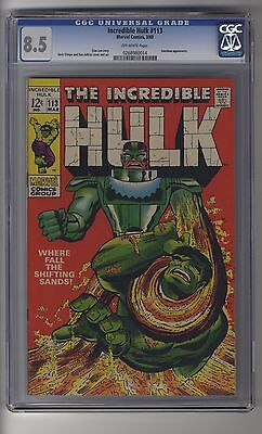 Incredible Hulk # 113 - CGC 8.5 Off-white Pages - Sandman