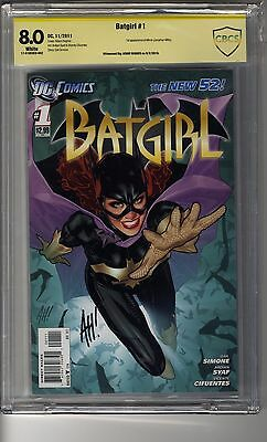 Batgirl # 1 - CBCS 8.0 WHITE Pages - SS Adam Hughes