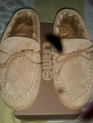 Mens Lamo moccasins, size 10, NEW ,GREAT PRICE!!!