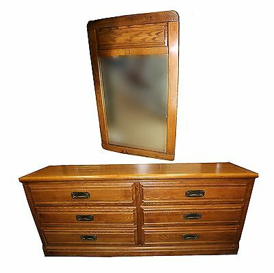 Vintage Young & Hinkle Oak Dresser with Mirror, Outrigger Collection