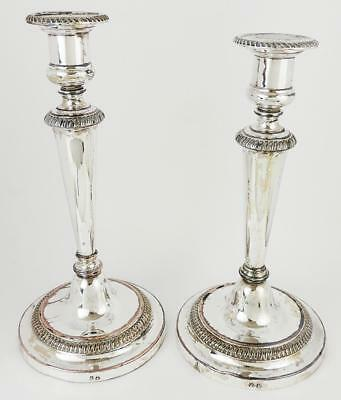 Superb PAIR MATTHEW BOULTON OLD SHEFFIELD PLATE CANDLESTICKS GEORGE III c1800