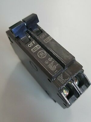 NEW GE THQP240 40A 120/240V 2P Plug-In Circuit Breaker