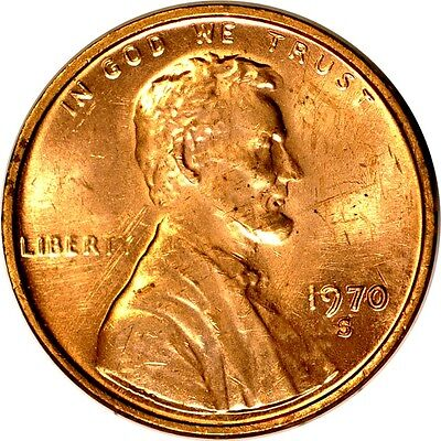 1970-S 1C (Small Date) Lincoln Memorial Cent UNC  K1791