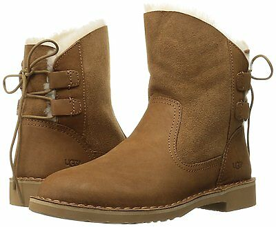 09fbadb2d14 WOMEN'S SHOES UGG Naiyah Contrasted Lace Back Boot 1019164 Chestnut *New*