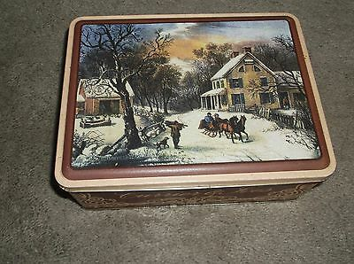 Currier & Ives Used Tin