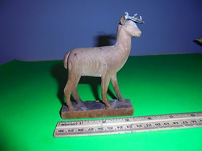 michigan wood crave folk art DEER, marine city 1800's a.i.