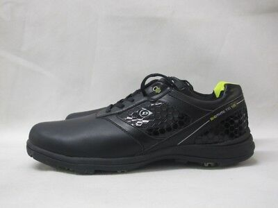Mens Dunlop Biomimetic 100 Snr 61 Black Green Golf Lace Up Sport Shoes