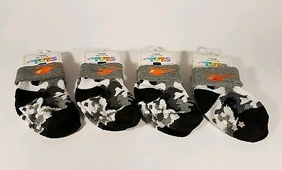 Baby Socks Set of 4 Helicopters with Black Gray Camo Size 0-12 Months CUTE