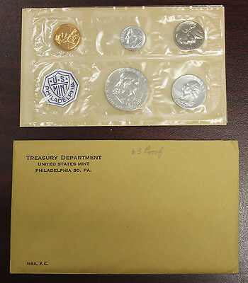 1963 Proof Set (Silver) in Original Mint Envelope (135)