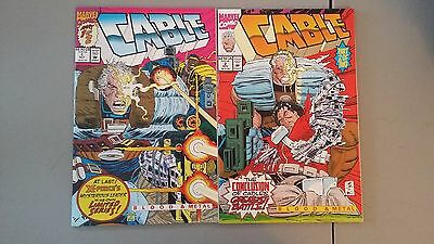 1992 Marvel Comics Lot Of 2 Cable #1 And #2 Nm Flat Rate S/h