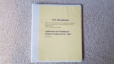 AIA Documents with Application and Finishing of Gypsum Products G216