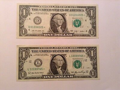Lot 2 Modern Star Notes 2006 San Francisco And 2009 Cleveland $1 One Dollar Frn