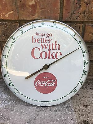 1950's Vintage Original RARE COCA-COLA Thermometer Sign In Great Condition