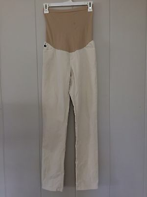 Ag Adriano Goldschmied Jeans Maternity Pea In The Pod Ivory Women's 28 R