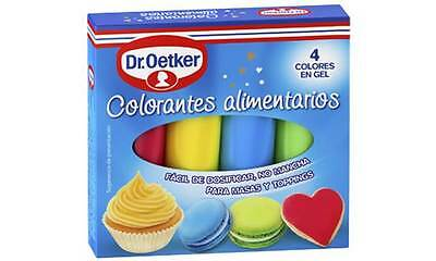 Quality Dr. Oetker Gel Food Colour Pack 4 Decorating Writing Kit Free Shipping