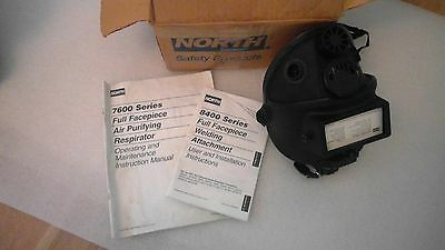 NORTH 7600 FULL FACE RESPIRATOR WITH  8400 series full face welding ATTACHMENT