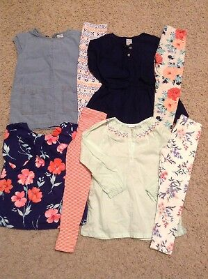 Carter's Lot Of 4 Outfits 3t Shirts Tops Leggings Pants Sets