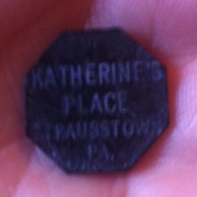 Vintage 10 Cent Plastic Trade Token Katherines Place Strausstown PA