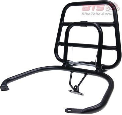 rear luggage rack folding black for Vespa LX, LXV, S-Vespa Modern