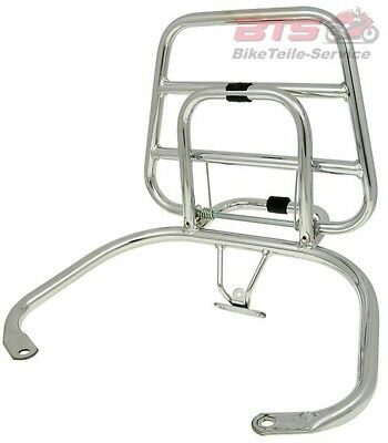 rear luggage rack folding chrome for Vespa LX, LXV Touring-Vespa Modern