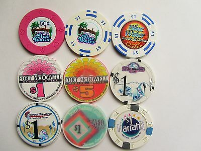 ARIZONA Casino Chip LOT #14  - OBSOLETE CASINO CHIPS