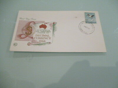 australia  Wesley fdc 1966 Decimal Currency 30c Ibis    Unaddressed