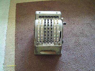 vintage summira 7 adding machine