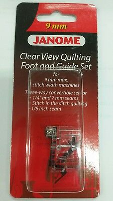 Janome Clear View Quilting Foot and Guide Set 9mm