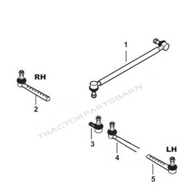 Ford New Holland New Tie Rods Drag Links 5600 7600 5610 6610 7000 7610 5000