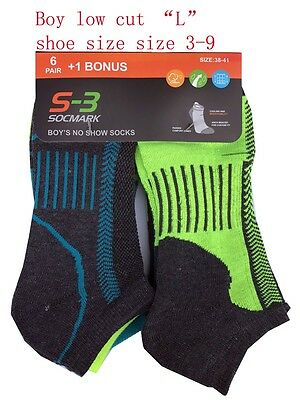 7 pairs Boys' Crew/Ankle/Low cut Socks Cooling & Dry & PREFORMANCE STRETCH NEW!
