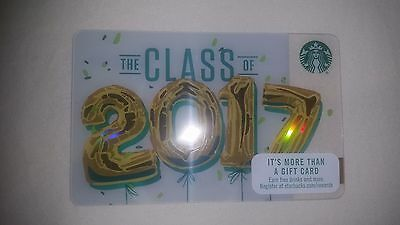 """Starbucks Gift Card Collectible -- NEW """"Class of 2017"""" design"""