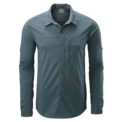 Kathmandu Ken Mens Long Sleeved Buttoned Top Slim Fit Durable Hiking Shirt v2