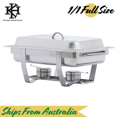 Full Size Bain Marie Chafing Dish | Stainless Steel Buffet Warmer Stackable