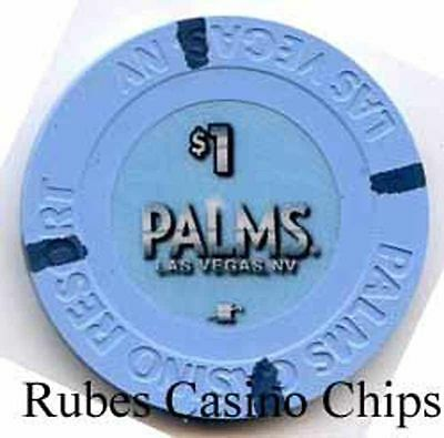 1.00 Chip from the Palms Casino in Las Vegas Nevada Small Inlay