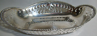 1902 Tiffany & Co Maker Sterling Silver FTD Pierced Floral Candy Nut Dish Bowl