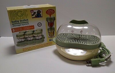 Magic Bullet Baby Lot of Steamer & Storage System 8 Piece Set Containers Used