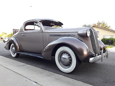 1936 Pontiac 3 coupe w/rumble seat  1936 Pontiac 3 Window Coupe w/factory rumble seat-1935 1937 1938 1939 ford chevy