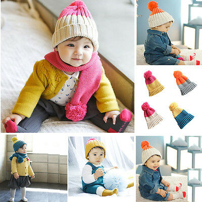 Cute Baby Boy/Girl Winter Warm Colorful Hat For Born Kid Child Soft Toddler Cap